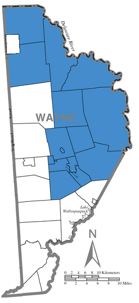 Map of Wayne Highlands